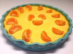 Fräsch apelsinpaj med chokladmandelbotten