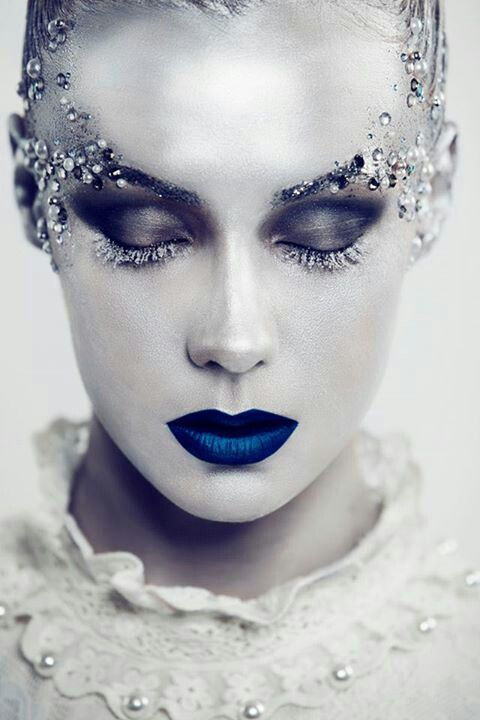 Ice queen makeup.