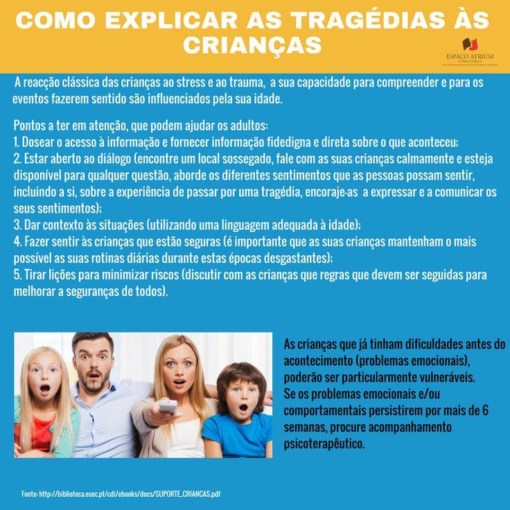 Como explicar as tragédias às crianças