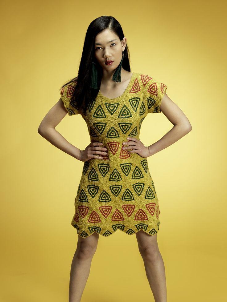 Ravelry: # 08 шестиугольник Motif платье узор с Unjung Yun