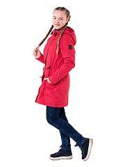 Куртка Ruff Tuff.  Отличная и удобная утепленная парка для стильной модницы на утеплителе Шелтер 100 г/м2 ( от 7 до 15). Широкая ветрозащитная планка и капюшон создают дополнительную защиту от ветра. Изделие дополнено утяжкой на талии и боковыми накладными карманами. Прекрасный вариант на каждый день.