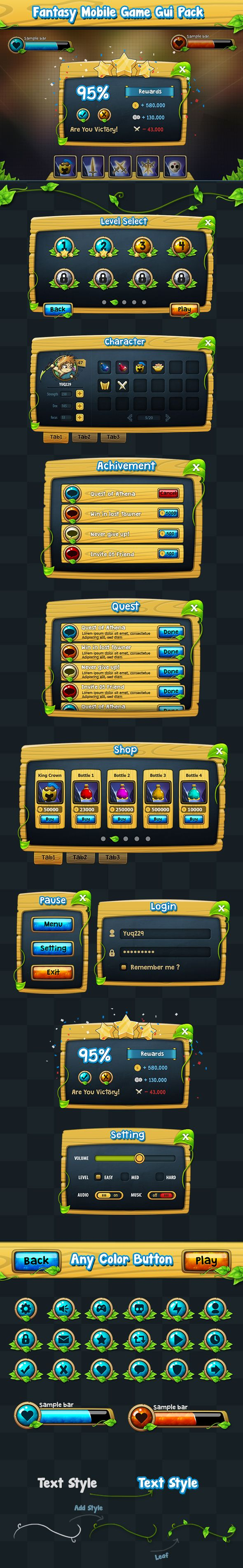 Game GUI Pack on Behance