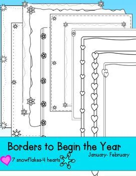 Borders To Begin The Year- Black and White. They are super cute!