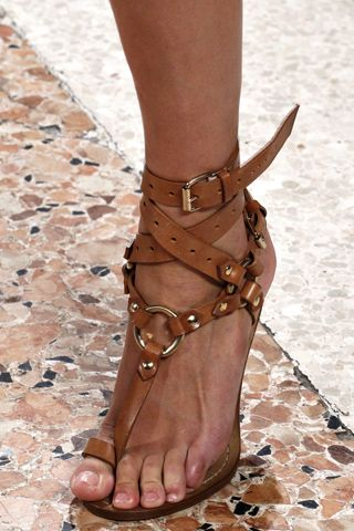 Pucci Gladiator Sandals Leather Summer Shoes