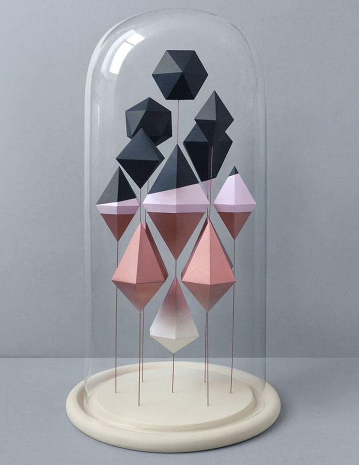 Геометрия декора: идеи и схемы для создания интерьерных украшений из бумаги - Ярмарка Мастеров - ручная работа, handmade