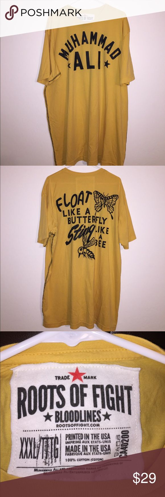 Roots of fight shirt xxxL Brand new Float like a butterfly sting like a bee shirt. Brand new XXXL ROOTS OF Fight Roots of fight Shirts Tees - Short Sleeve