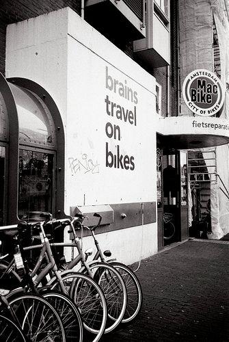 Brains travel on bikes - http://bookcheaptravels.com/brains-travel-on-bikes/ - Brains travel on bikes  Image by GabPRR Yashica T4 + Kodak 400TX - bikes, Brains, Travel