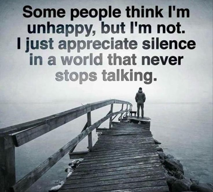 Most people don't know quiet replenishes me... I need my quiet times!!!