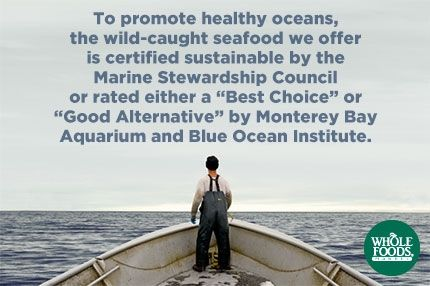 Seafood | Whole Foods Market>Sustainable seafood> Keep up the great work guys!