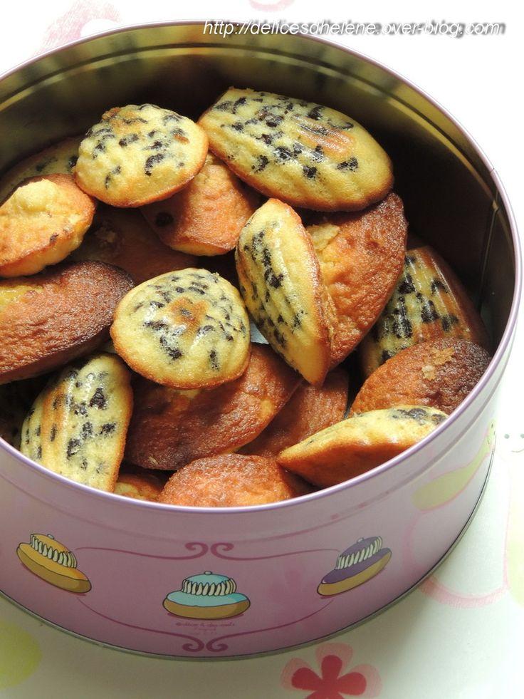 MADELEINES CITRON ET PEPITES DE CHOCOLAT