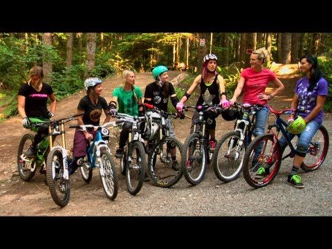 """If She Can Do It - Women's MTB short film: this was shot at Duthie, a park I ride pretty regularly. Makes me want to grab my (expletive) bike and go for a ride.  """"Rail the berm!"""""""