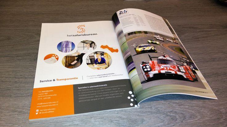Advertentie Het Salarisbureau in het tijdschrift de Nederlandse Porsche Club (NPC)