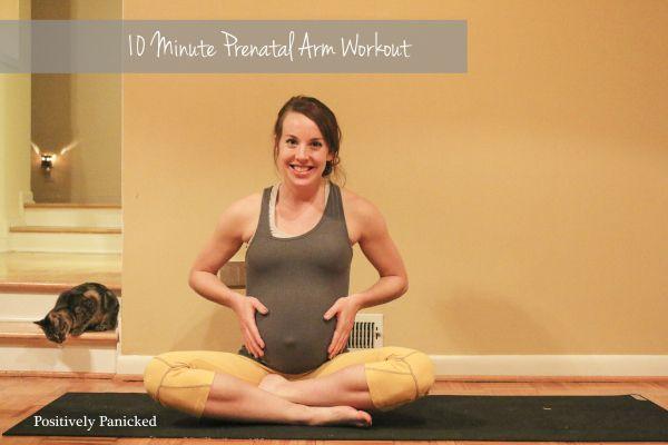 10 min arm workout, third trimester prenatal workout