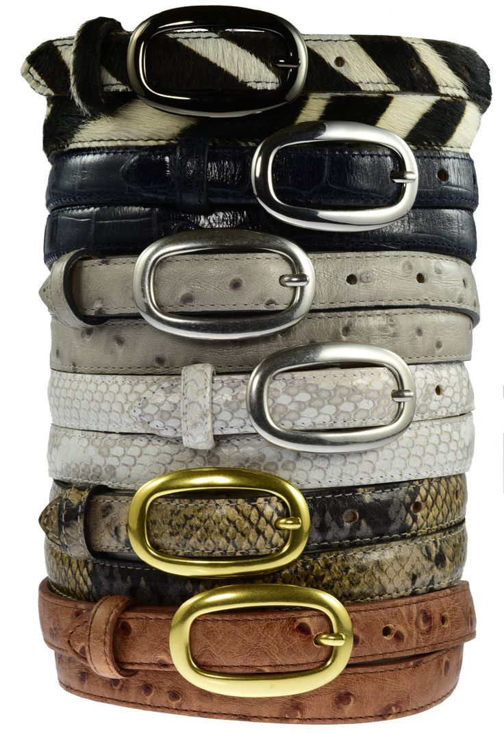 Skinny Belts fixed buckles - new white python £50 (4th down).