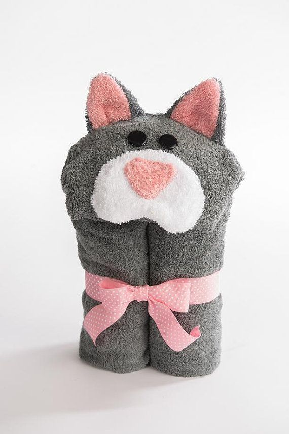 PERSONALIZED Cat Hooded Towel by RubADubBuddies on Etsy