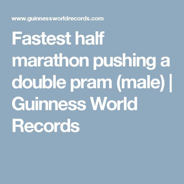 Fastest half marathon pushing a double pram (male) | Guinness World Records