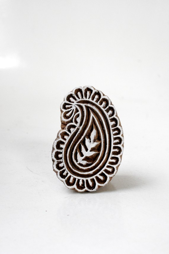 SALE  Hand carved small wood textile india by TATAindianwoodstamps, $9.50
