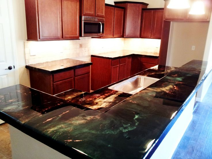 Epoxy countertop basement bar pinterest epoxy countertop epoxy and countertop - Wonderful kitchen layout plans for totally comfortable cooking time ...