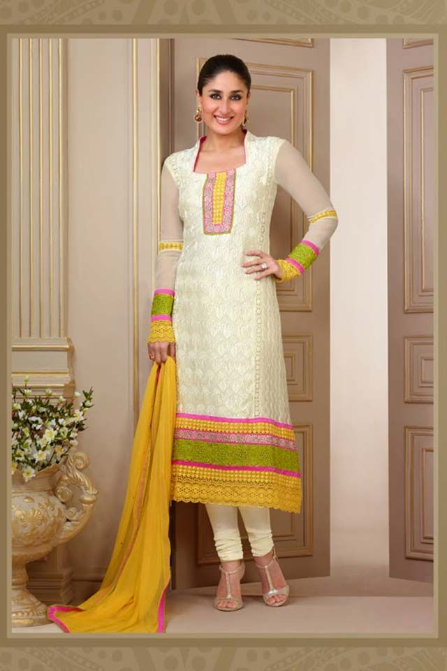 Kareena kapoor in yellow anarkali