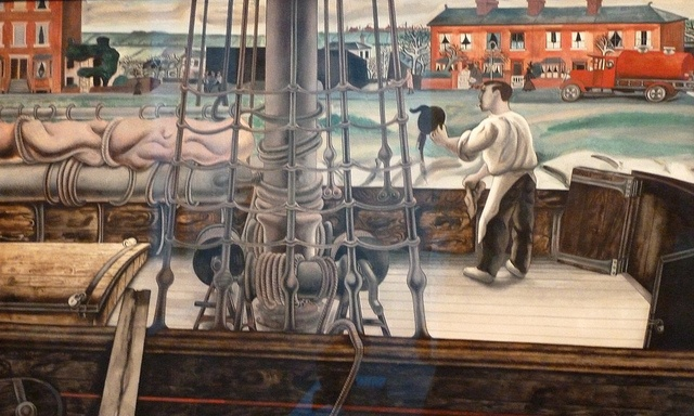 Edward Burra: Tea Leaves Overboard (1932) watercolour, ink and gouache.    In April 2011 Frank and Cherryl Cohen - internationally known as collectors of contemporary art lent their collection of modern British paintings and sculpture for an exhibition ...(Experience the best #Art galleries in     NYC with https://www.artexperiencenyc.com