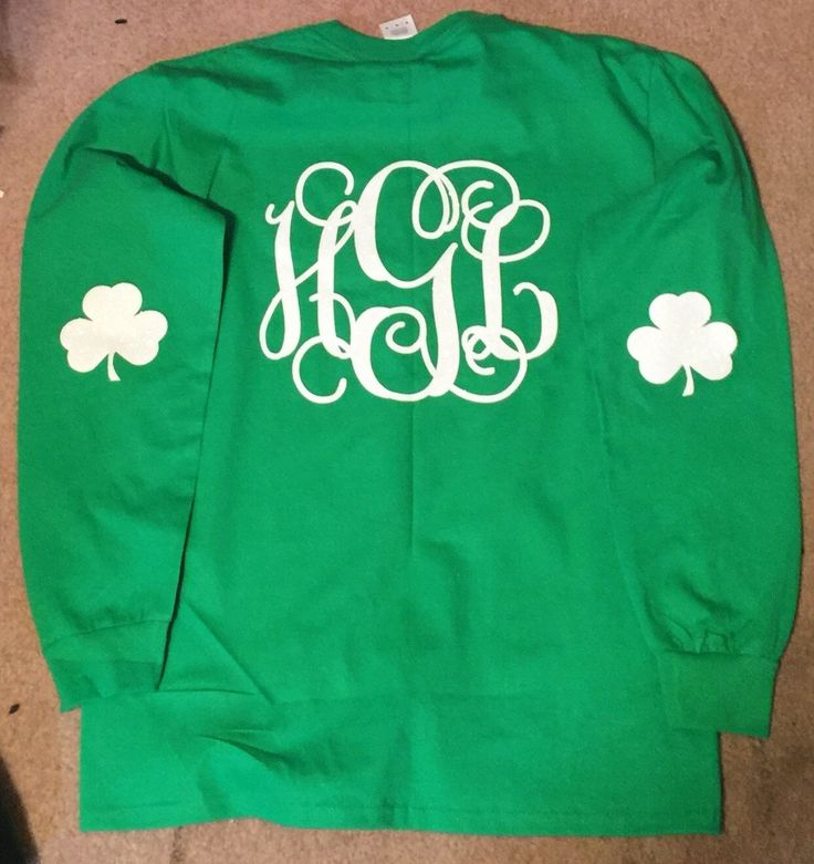 St Patricks Day Shirts, Monogrammed, Glitter, Adult, Youth, Personalized by ExpressYourselfbySta on Etsy