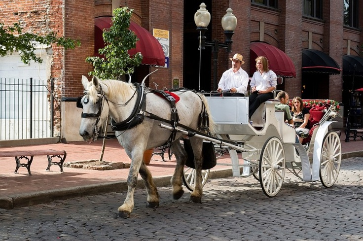 Carriage Ride on Laclede's Landing on the Riverfront. My husband proposed to me after a carriage ride here!