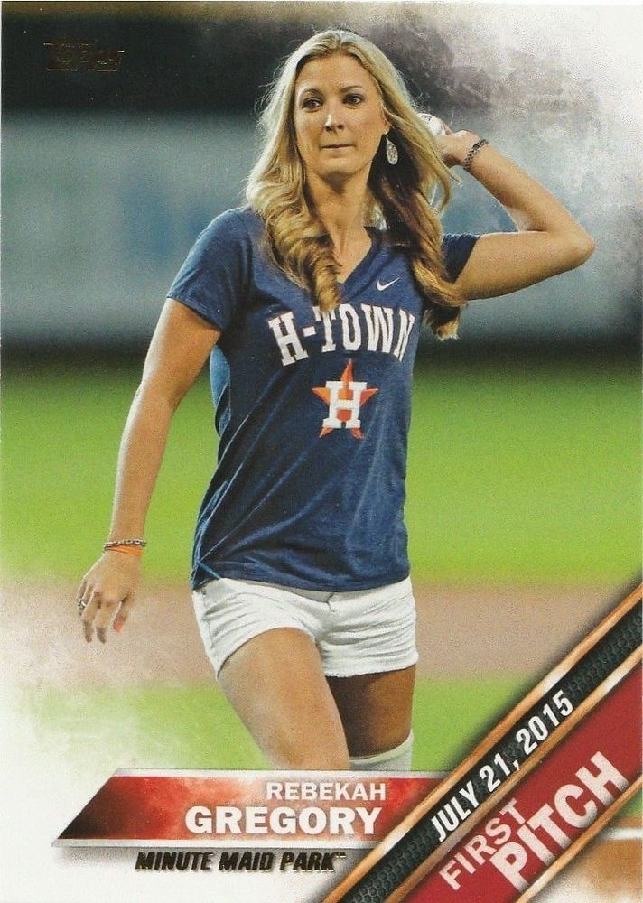 2016 Topps Series 1 First Pitch Rebekah Gregory #FP-18 Houston Astros #HoustonAstros