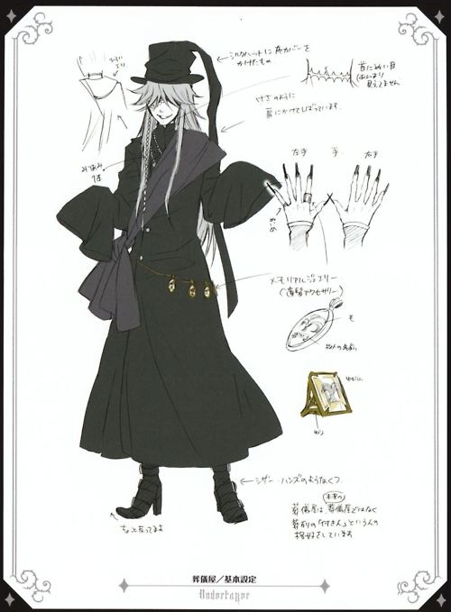 Undertaker details (for potential Mat Hatter costume)  -Move to Costuming if this ever becomes actual costume reference-