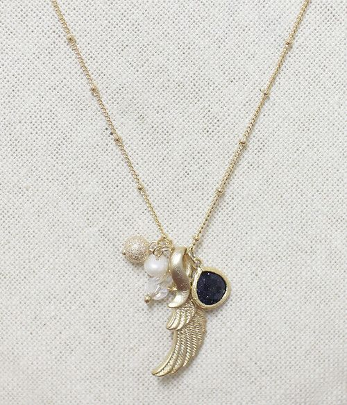 Angel Necklace #Golden #Necklace #Angel #Handmade #SouthKorea #Hip