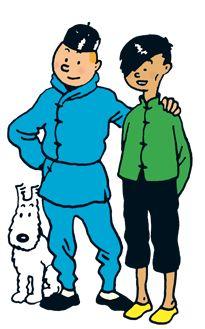 Miliou Snowy, Tintin and Chang • The Blue Lotus • Herge, Tintin et moi