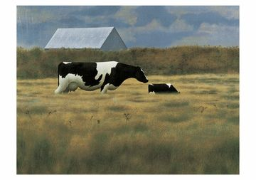 Alex Colville - Cow and Calf, 1969
