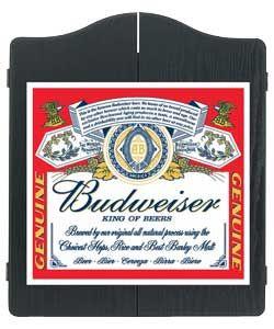 Winmau Budweiser Label Dartboard Cabinet.