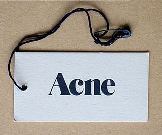 Acne swing tag                                                                                                                                                      More