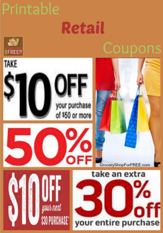 Printable Retail Coupon Roundup!
