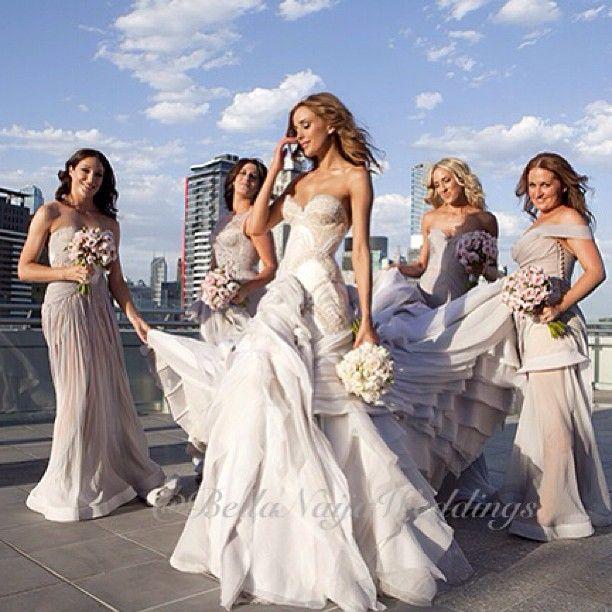 #BellaNaijaBridesmaids: beautiful @Bec Judd & bridesmaids in @jatoncouture. Photo by @JenniferStenglein. - bellanaijaweddings @ Instagram Web Interface - 5th village