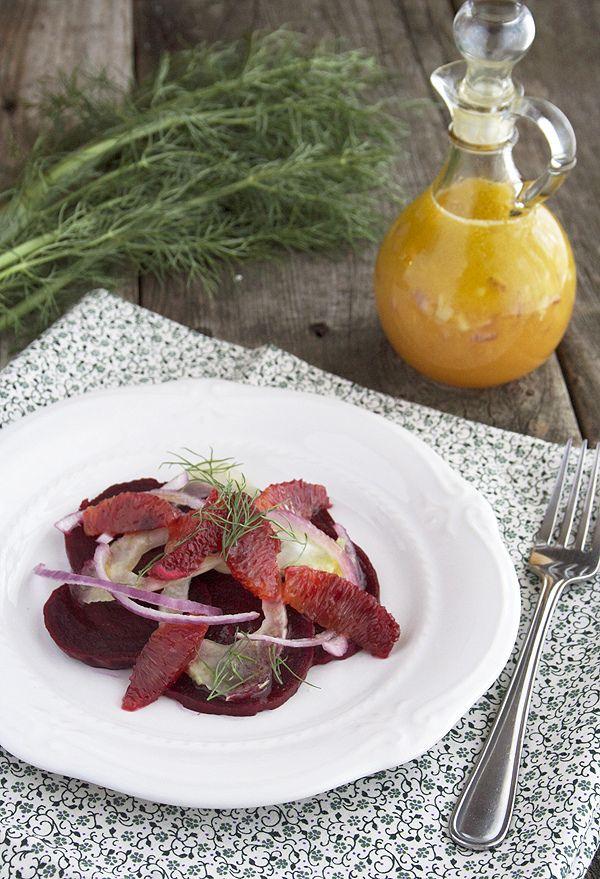 "Beet, Fennel & Blood Orange Salad in a Citrus Vinaigrette from ""a ..."