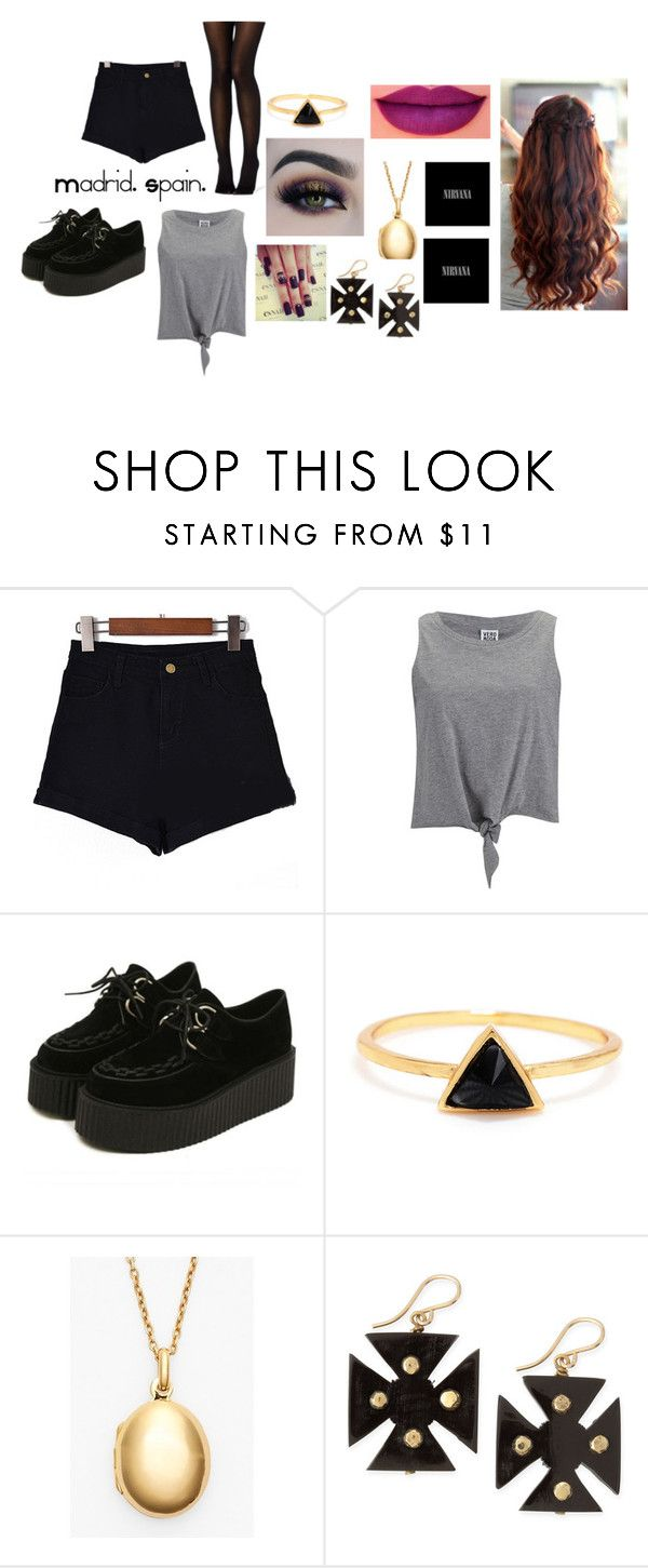 """Madrid. Spain."" by rebeccatonkin ❤ liked on Polyvore featuring Vero Moda, Argento Vivo, Ashley Pittman, BHCosmetics and Anastasia Beverly Hills"
