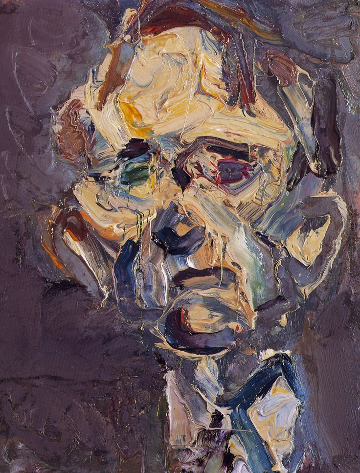 Frank Auerbach - Head of Michael Podro, 1981