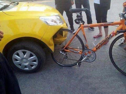 Carro ganhará sistema para não atropelar ciclista.