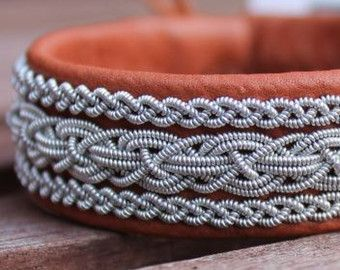 Leather wrap bracelet Sami bracelet braided by ACDesignJewellery
