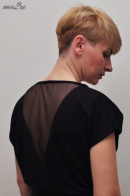 Bluzka z elementami z tiulu, tulle blouse