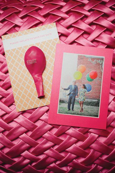 save the date with a balloon! | Kristyn Hogan #wedding
