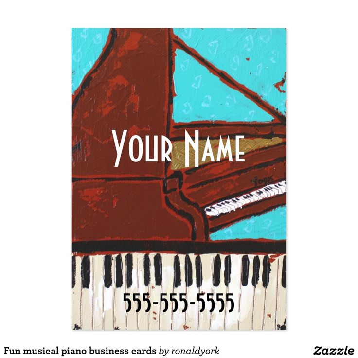 48 best music business cards images on pinterest carte de visite fun musical piano business cards reheart Images