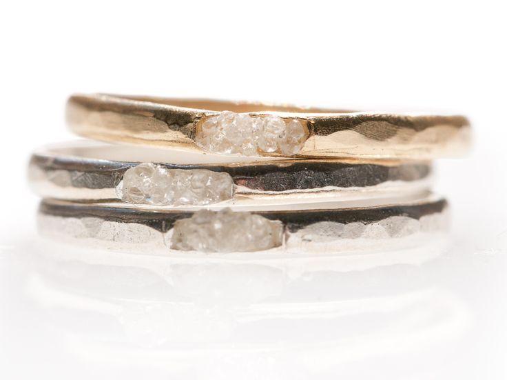 Raw Diamond Cluster Ring by Blair Lauren Brown Jewelry | Rings | http://AHAlife.com