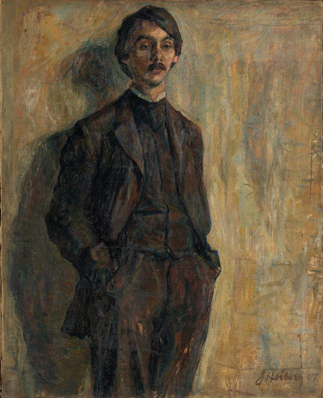 Jean Heiberg (1884–1976), Maleren Sigurd Eriksen, 1907, Olje på lerret, 100x80,5 cm | Nasjonalmuseet, Oslo