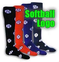 Softball Logo Socks