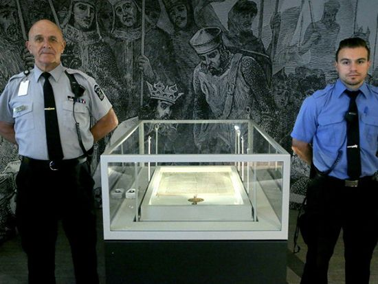 Guarding Magna Carta: a touring exhibit for the 800 year old document on human rights and justice comes to Fort York Toronto