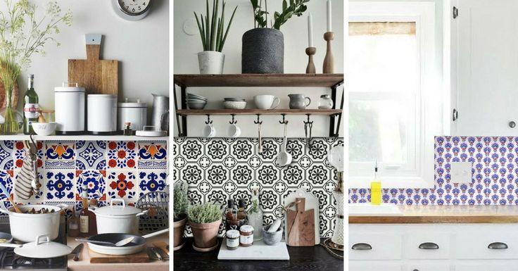 La crédence adhésive imitation carreaux de ciment pour un relooking simple et pas cher de votre cuisine ! Découvrez ici les meilleures idées en photos.