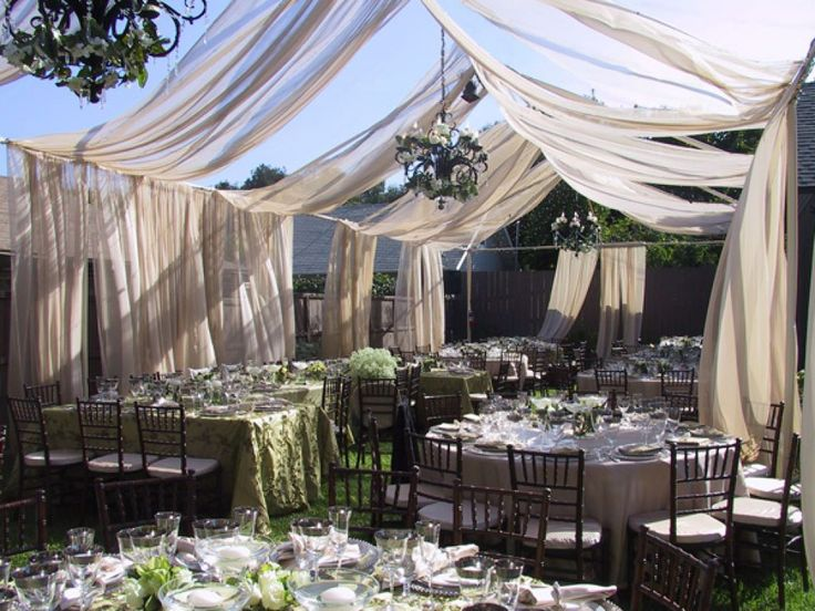 1000 images about it 39 s party time on pinterest for Outdoor tent decorating ideas