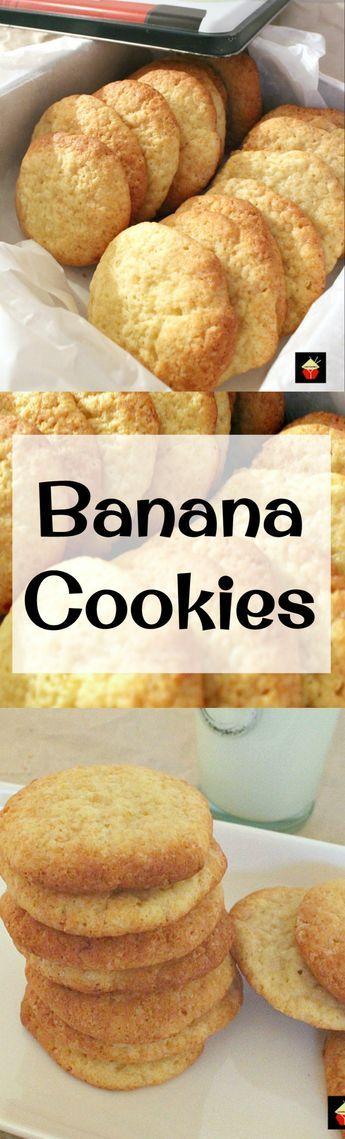 Plátano Galletas gota.  Las tesis son una galleta mullida luz y grande para el uso de esos plátanos demasiado maduros!  Fácil receta también!  |  Lovefoodies.com